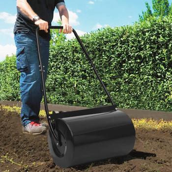vidaXL Valjak za travnjak crni 63 cm 50 L