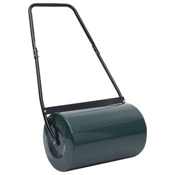 vidaXL Valjak za travnjak zeleno-crni 63 cm 50 L