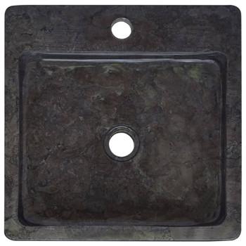 vidaXL Umivaonik crni 40 x 40 x 12 cm mramorni