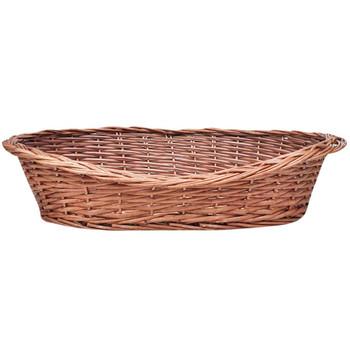 Košara za psa od vrbe / krevet za ljubimce prirodna boja 70 cm