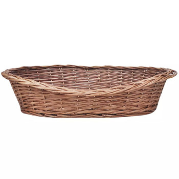 Košara za psa od vrbe / krevet za ljubimce prirodna boja 50 cm