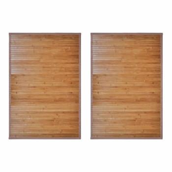 vidaXL Prostirke za kadu od bambusa 2 kom 60 x 90 cm smeđe