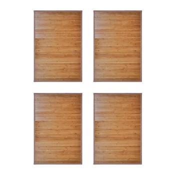 vidaXL Prostirke za kadu od bambusa 4 kom 60 x 90 cm smeđe