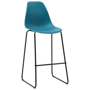 vidaXL Barske stolice 2 kom tirkizne plastične