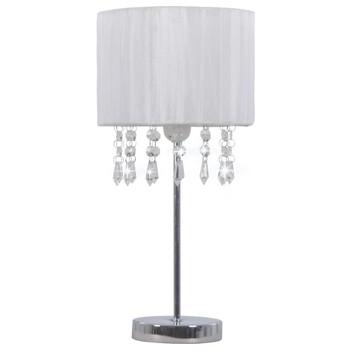 vidaXL Stolna svjetiljka bijela okrugla E27