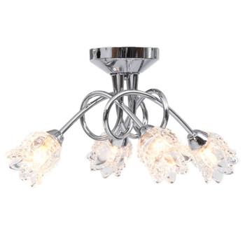 vidaXL Stropna svjetiljka sa staklenim sjenilima za 4 žarulje G9