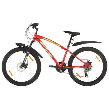 """vidaXL Brdski bicikl 21 brzina kotači od 26 """" okvir od 42 cm crveni"""