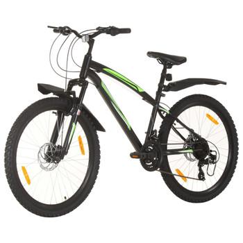 """vidaXL Brdski bicikl 21 brzina kotači od 26 """" okvir od 42 cm crni"""
