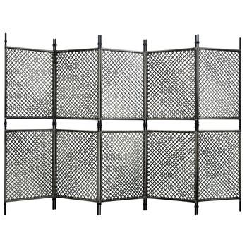 vidaXL Panel za ogradu od poliratana 3 x 2 m antracit