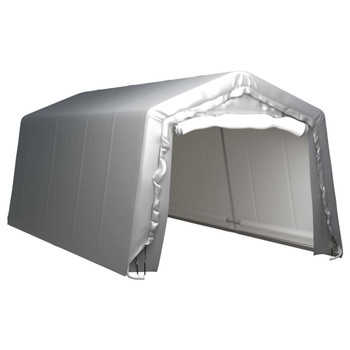 vidaXL Skladišni šator 300 x 600 cm čelični sivi