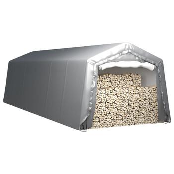 vidaXL Skladišni šator 300 x 900 cm čelični sivi