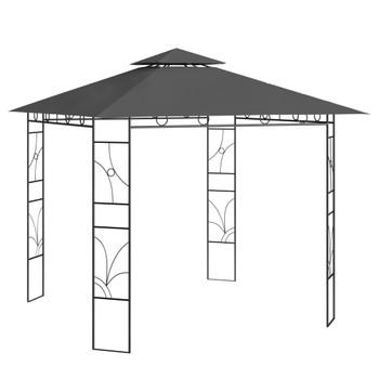vidaXL Sjenica 3 x 3 x 2,7 m antracit 160 g/m²
