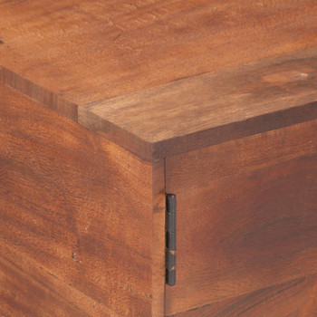 vidaXL Stolić za kavu boje meda 67 x 67 x 45 cm masivno bagremovo drvo