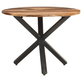 vidaXL Blagovaonski stol 100 x 100 x 75 cm od drva bagrema i šišama