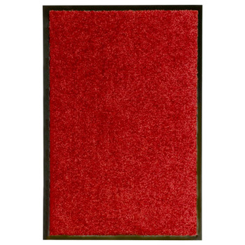 vidaXL Otirač perivi crveni 40 x 60 cm