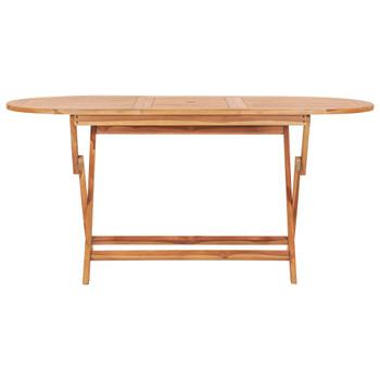 vidaXL Sklopivi vrtni stol 160 x 80 x 75 cm od masivne tikovine