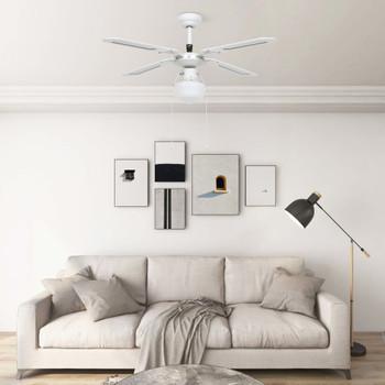 vidaXL Stropni ventilator sa svjetlom 106 cm bijeli