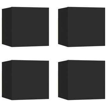 vidaXL Zidni TV ormarići 4 kom crni 30,5 x 30 x 30 cm
