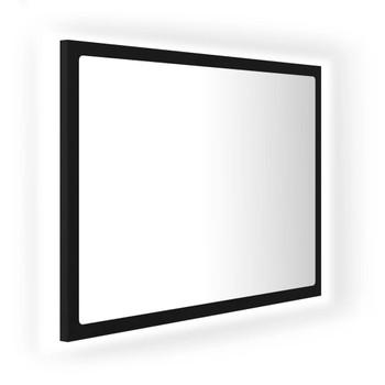 vidaXL LED kupaonsko ogledalo crno 60 x 8,5 x 37 cm od iverice