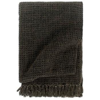 vidaXL Pamučni pokrivač 125 x 150 cm antracit/smeđi
