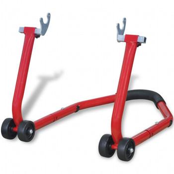 vidaXL Podupirač za Motocikl,stražnji kotač,crvena boja