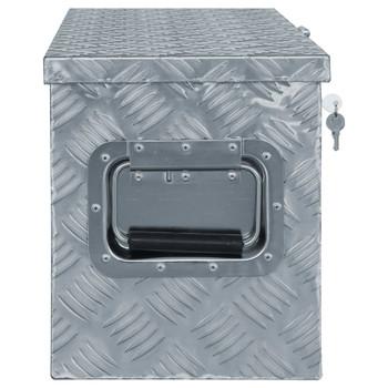 vidaXL Aluminijska kutija 76,5 x 26,5 x 33 cm srebrna
