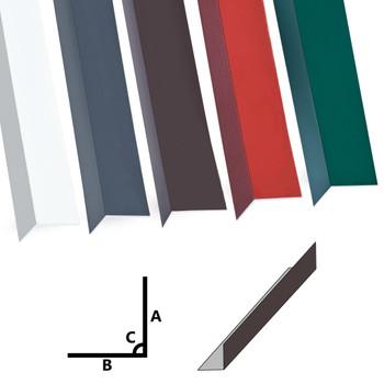 vidaXL Kutni profili od 90° 5 kom aluminijski smeđi 170 cm 100 x 50 mm