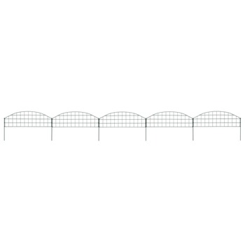 vidaXL Set lučnih ograda za ribnjak 77,3 x 26 cm zeleni