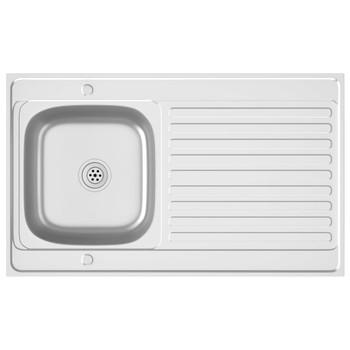 vidaXL Kuhinjski sudoper srebrni 1000x600x155 mm od nehrđajućeg čelika