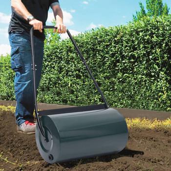 vidaXL Valjak za travnjak zeleno-crni 57 cm 43 L