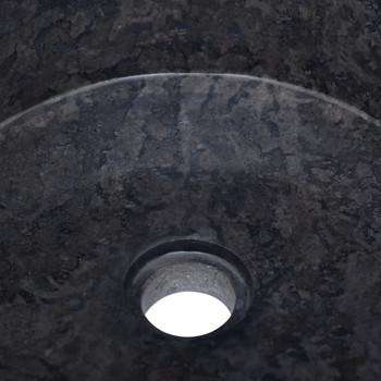 vidaXL Umivaonik crni Ø 40 x 15 cm mramorni