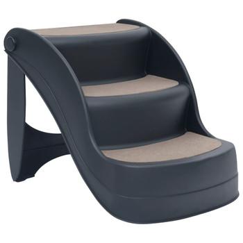 vidaXL 3 sklopive stepenice za pse tamnosive