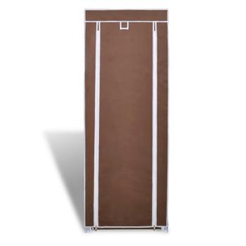 Ormarić za cipele od tkanine, 57 x 29 x 162 cm, Smeđi