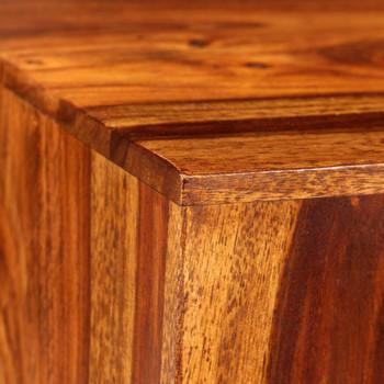 vidaXL Set 2 stolića za kavu od masivnog drva šišama 2 kom 40 x 40 x 40 cm