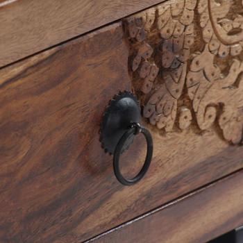 vidaXL Stolić za kavu od masivnog drva šišama 90 x 50 x 35 cm