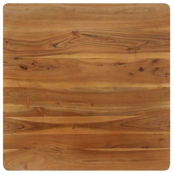 vidaXL Blagovaonski stol od masivnog drva bagrema i čelika 75x75x76 cm