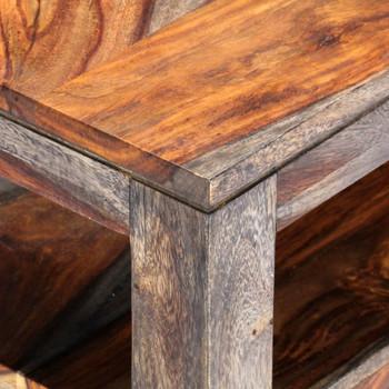 vidaXL Stolić za kavu od masivnog drva šišama sivi 100 x 50 x 40 cm