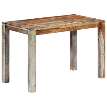 vidaXL Blagovaonski stol sivi 118 x 60 x 76 cm od masivnog drva šišama
