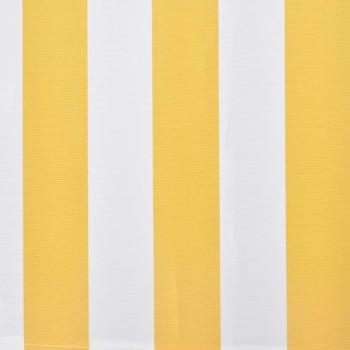 vidaXL Sklopiva tenda na ručno upravljanje 300 cm žuto-bijela