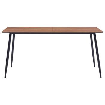 vidaXL Blagovaonski stol smeđi 140 x 70 x 75 cm MDF