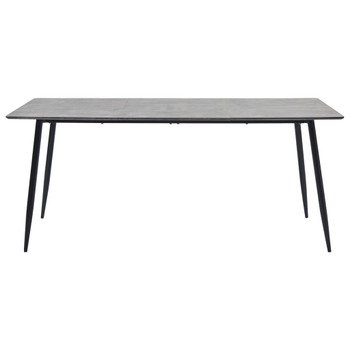 vidaXL Blagovaonski stol sivi 180 x 90 x 75 cm MDF