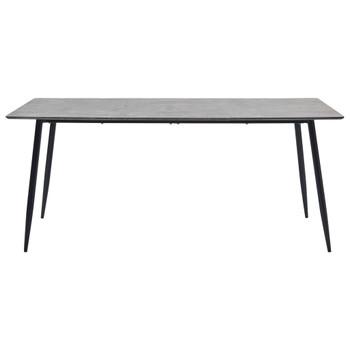 vidaXL Blagovaonski stol sivi 200 x 100 x 75 cm MDF