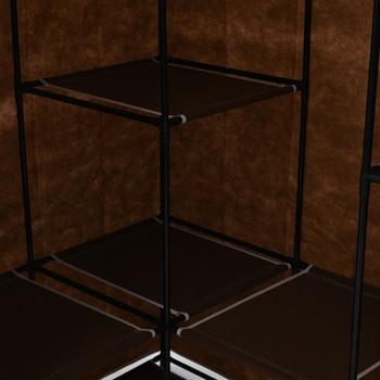 vidaXL Kutni ormar smeđi 130 x 87 x 169 cm