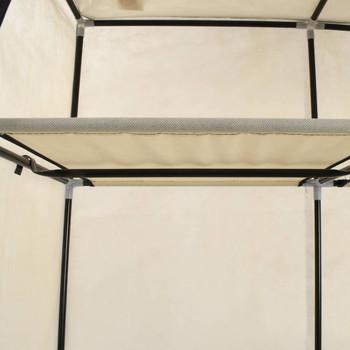 vidaXL Ormar od tkanine s odjeljcima i šipkama krem 150 x 45 x 175 cm