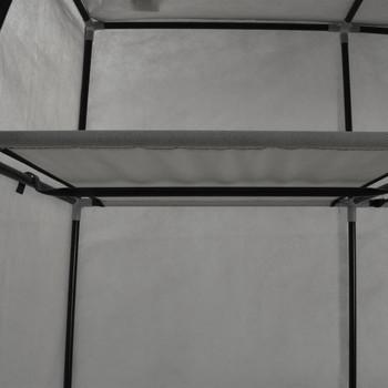vidaXL Ormar od tkanine s odjeljcima i šipkama sivi 150 x 45 x 175 cm