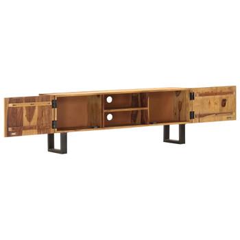 vidaXL TV ormarić 130 x 30 x 47 cm od masivnog bagremovog drva
