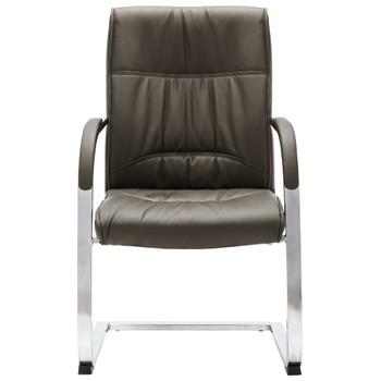vidaXL Konzolna uredska stolica od umjetne kože siva