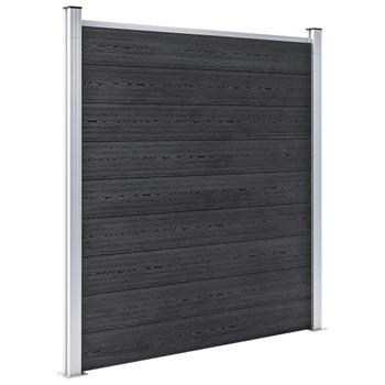 vidaXL Set WPC ograda 10 kvadratnih + 1 kosa 1830 x 186 cm sivi