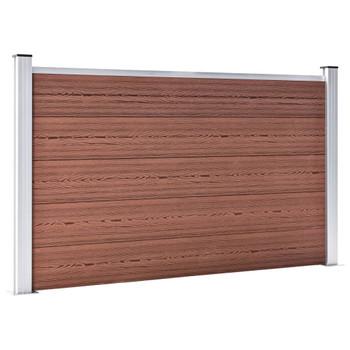vidaXL Vrtna ograda od WPC-a 353 x 106 cm smeđa
