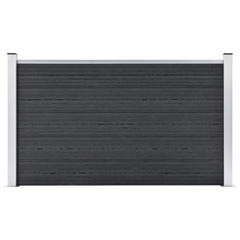 vidaXL Vrtna ograda od WPC-a 353 x 106 cm siva